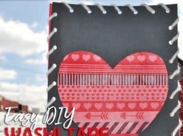 Heart Art Washi Tape Valentine