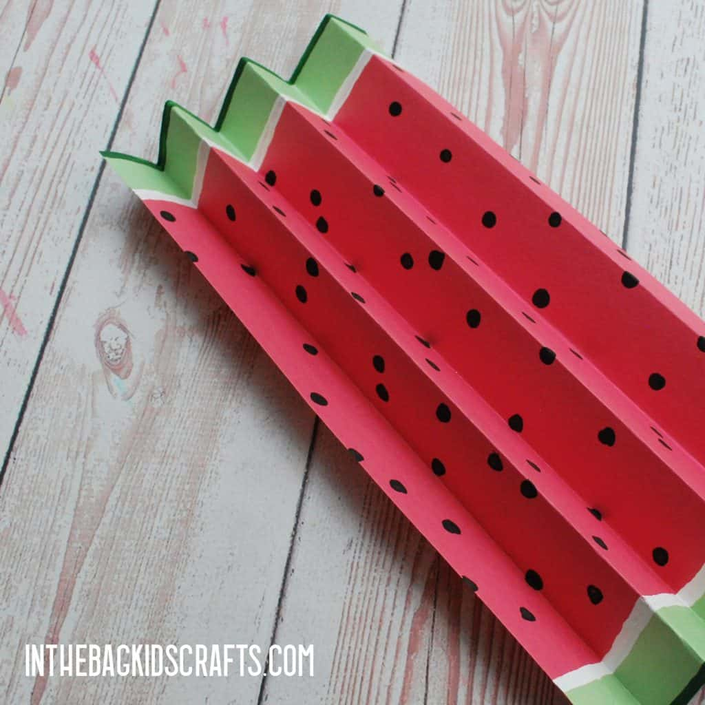 EASY WATERMELON PAPER CRAFTS STEP 3