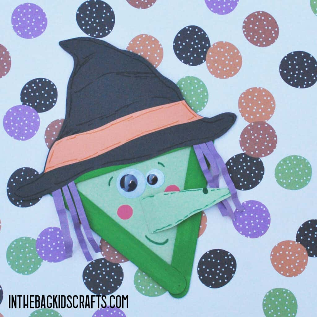 HALLOWEEN MONSTER ARTS AND CRAFTS WITCH