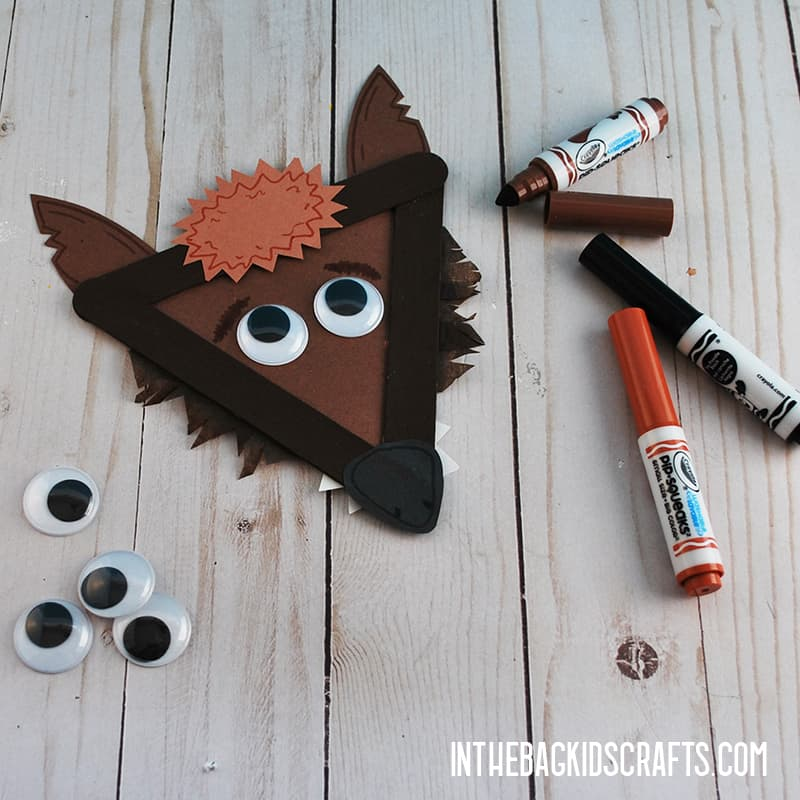 LITTLE RED RIDING HOOD CRAFTS BIG BAD WOLF STEP 5