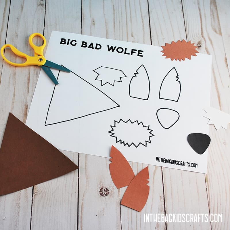 LITTLE RED RIDING HOOD CRAFTS BIG BAD WOLF STEP 3