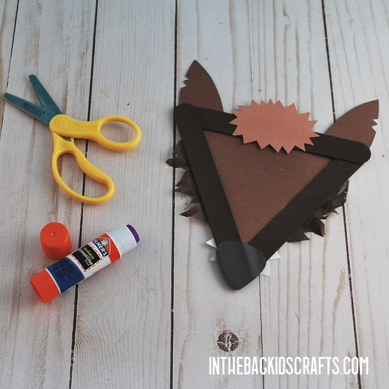 LITTLE RED RIDING HOOD CRAFTS BIG BAD WOLF STEP 4