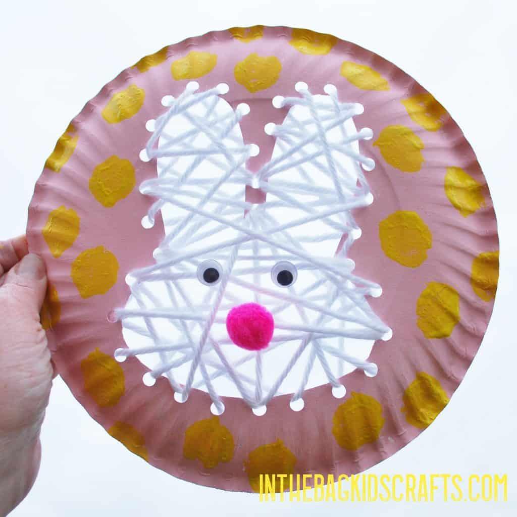 LACING ACTIVITIES Easter Bunny Kids Craft