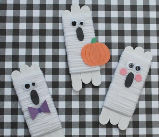 HALLOWEEN GHOST CRAFTS FOR KIDS