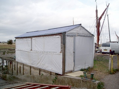 Morgan's shed holds an interesting secret - a project to create a double-ended spritsail boat