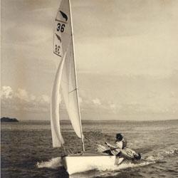 Ian Proctor's Kestrel dinghy