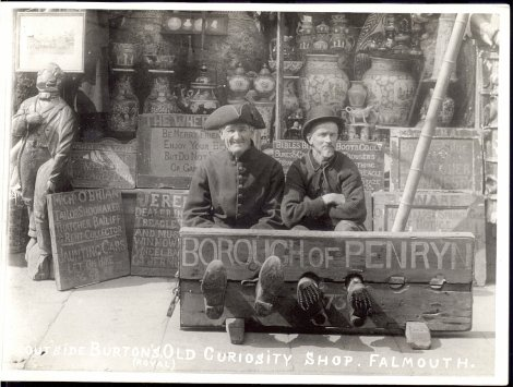 Penryn stocks outside Falmouth's Old Curiosity Shop