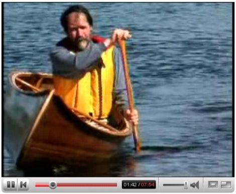 Paddling a Canadian canoe