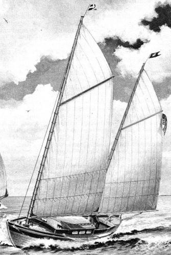 Chappelle's Southwind dory-sharpie schooner