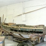 Restored fishing boat used by Cuban refugees