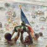 Detail from the painting Napoleon III at Genes