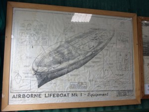 Uffa Fox airborne lifeboat poster at the Museum of the Broads