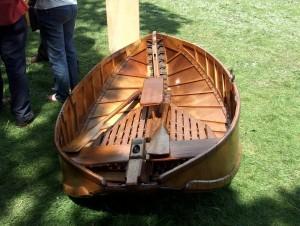 Hudson folding boat at the Beale Park Thames Boat Show