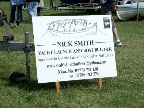Nick Smith traditional boatbuilder at Beale Park Thames Boat Show