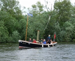 Steamer Falcon on Barton Broad