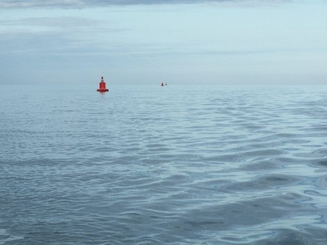 Buoys in the Swale photographed by Gavin Atkin