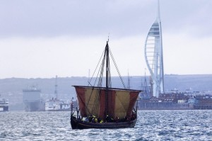 Viking Ship Sea Stallion sailing from Wicklow to Portsmouth