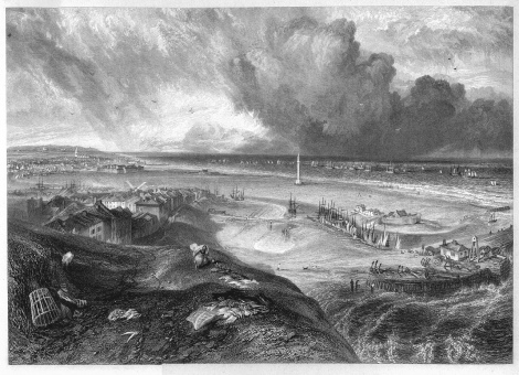 Yarmouth, engraving by William Miller after Turner