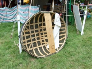 Coracle at the Beale Part Thames Boat Show 2008