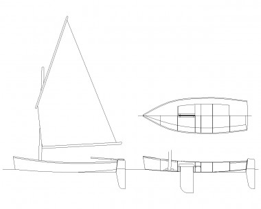 Ella skiff model drawing