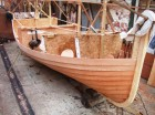 boatbuilder, clinker, fishing boat, motor launch, Nick Smith, planking, west country, Wooden Boatbuilders Trade Association, WBTA