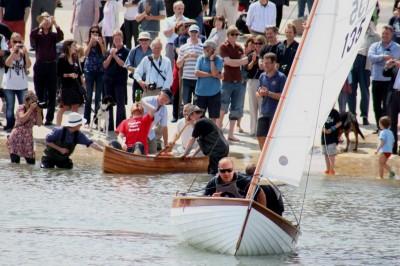 andrew wolstenholme , boat building academy , dinghy , dominic frankis , epo,y ply , glued clinker , Lyme , mallard , mallard dinghy , steve bramley , students