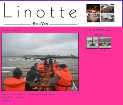 Rescue of Linotte by rowing pilot gig