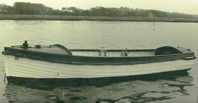 Motor launch Mary in 1960, restoration Ben Wales