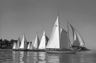 Round the Island Race start 1959 photo by Beken of Cowes