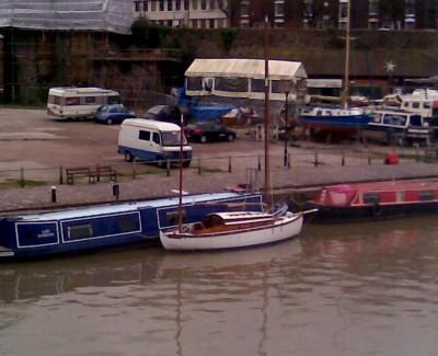 Canoe yawl in Bristol Docks