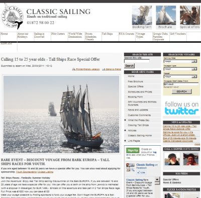 Tall Ships racing with Classic Sailing