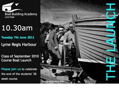 Boat Building Academy launch invitation