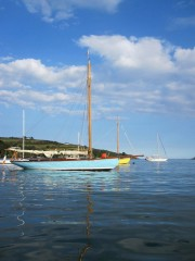 Cork Harbour One Design yachts Elsie and Querida photographed by boat builder Tiernan Roe