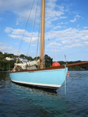 Cork Harbour One Design yachts Elsie photographed by boat builder Tiernan Roe