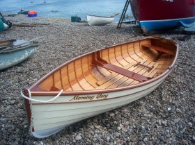 Adam Newton 12ft rowing boat Morning Glory at Beer