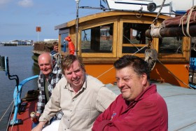 John Barwell, actor Timothy Small and owner Mal Nicholson: Photo Chris Horan 01724844247 07799515944