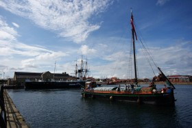 Spider T at Hartlepool, with the Wingfield Castle and HMS Trincomalee. Photo Chris Horan.