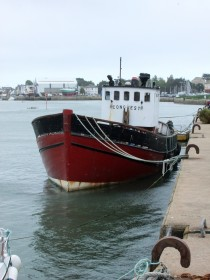 Brittany Le Croisic harbour wooden fishing boat