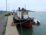 Brittany Le Croisic harbour wooden fishing boat 4