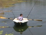 Murray Isles dinghy built by Damien O'Grady
