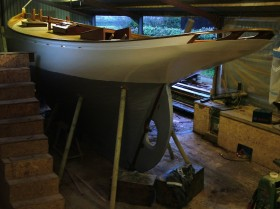 Stirling and Son Victorian racing yacht Integrity Port Quarter