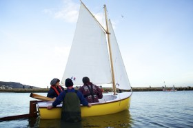 Shane Butcher's composite dinghy 'Dreamer' Photo - Jenny Steer Dec 2011