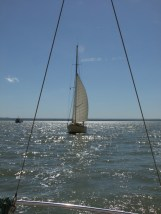 Oare Creek to the Colne and back 2 the man too lazy to raise his mainsail