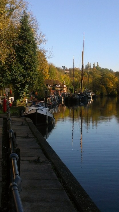 Boats on the Medway at Allington 1