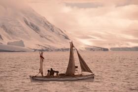 Alexandra Shackleton departs Elephant Island.  Image Si Wagen Shackleton Epic