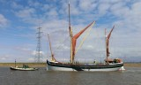 Cambria makes her way down Faversham Creek on a high tide 2