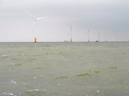 In the Thames Estuary 21 June 2013 wind farm 1