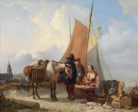 Johan_Janssens_Fischer_am_Strand_von_Scheveningen_1842