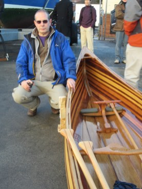 Keith Bowers and his Prospector Ranger canoe. Photograph by Becky Dec 13 (39)