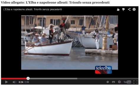 Napoleon arrives at Elba 2014